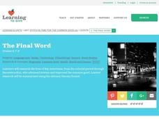 The Final Word Lesson Plan