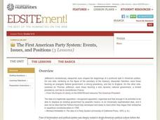 The First American Party System: Events, Issues, and Positions Unit