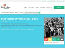 The First Conservationists Lesson Plan
