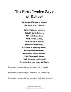 The First Twelve Days of School Lesson Plan