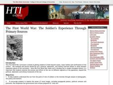 The First World War Lesson Plan