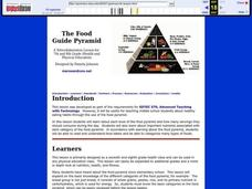 The Food Guide Pyramid Lesson Plan