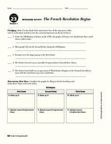 french revolution notes worksheets reviewed by teachers. Black Bedroom Furniture Sets. Home Design Ideas