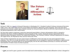 The Future of Affirmative Action Lesson Plan