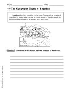 The Geography Theme of Location Worksheet