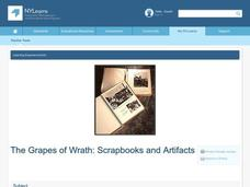 The Grapes of Wrath: Scrapbooks and Artifacts Lesson Plan