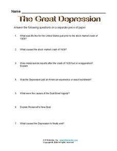 the great depression worksheet for 6th 8th grade lesson planet. Black Bedroom Furniture Sets. Home Design Ideas
