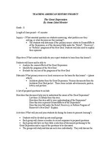The Great Depression Lesson Plan for 8th Grade | Lesson Planet