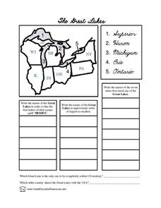 The Great Lakes Lesson Plan
