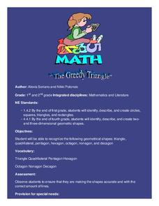The Greedy Triangle Lesson Plan