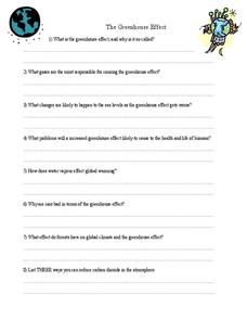 The Greenhouse Effect Worksheet