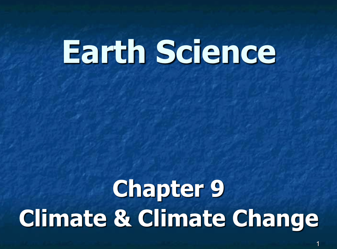 Climate and Climate Change Presentation