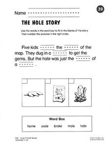 The Hole Story Worksheet