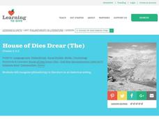 The House of Dies Drear Lesson Plan