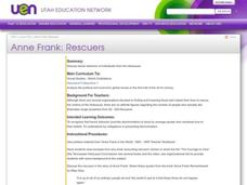 Anne Frank: Rescuers Lesson Plan