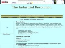 The Industrial Revolution Lesson Plan