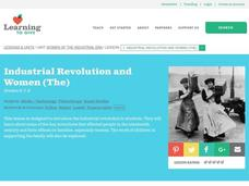 The Industrial Revolution and Women Lesson Plan