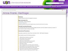 Anne Frank: Heritage Lesson Plan