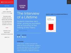 The Interview of a Lifetime Lesson Plan