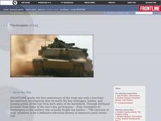 The Invasion of Iraq Lesson Plan