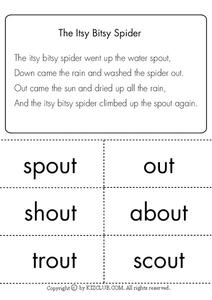 The Itsy Bitsy Spider Lesson Plan