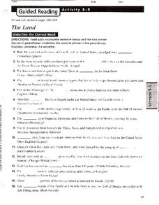The Land Worksheet