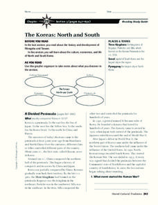 The Koreas: North and South Worksheet