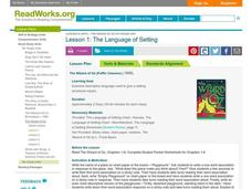 The Language of Setting Lesson Plan