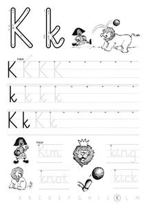 "The Letter ""K"" Worksheet"
