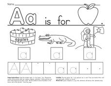The Letter A Worksheet