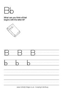 The Letter B Worksheet