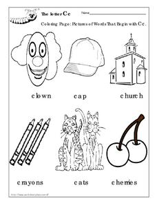 The Letter Cc Worksheet