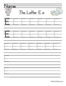 The Letter E Worksheet