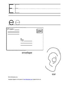 The Letter E Printables & Template