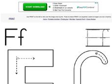 The Letter F Worksheet