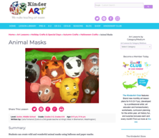 Animal Masks Lesson Plan