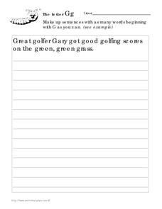 The Letter Gg Worksheet