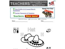 The Letter H Worksheet