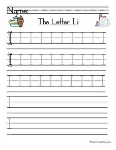 The Letter i Worksheet