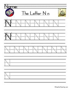 The Letter N Worksheet