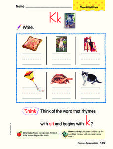 The Letter K Worksheet