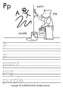 The Letter P Lesson Plan