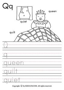 The Letter Qq Lesson Plan