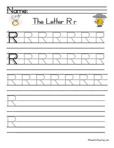 The Letter R Worksheet