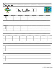 The Letter T Worksheet