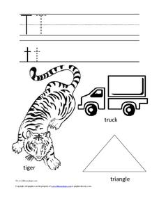 The Letter Tt Worksheet