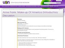 Anne Frank: Make-up Of America Lesson Plan