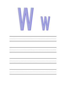 The Letter W Worksheet