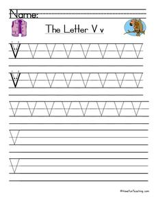 The Letter V Worksheet