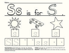 The Letter S Worksheet